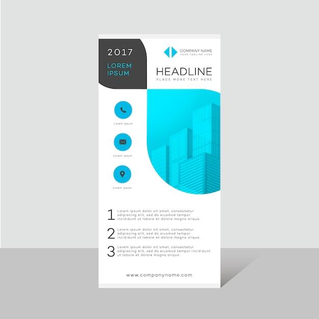 Folheto empresarial design moderno Vetor grátis