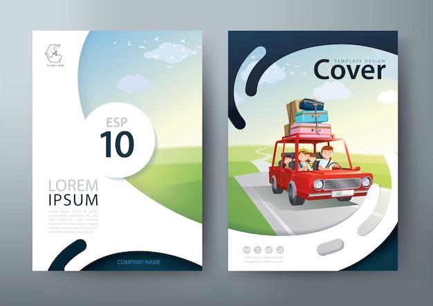Folheto, modelo de capa de livro Vetor Premium