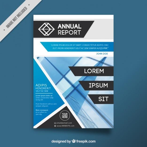 Folheto moderno com formas geométricas Vetor Premium