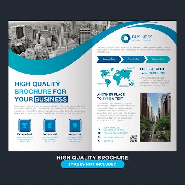Folheto moderno e profissional para negócios Vetor grátis