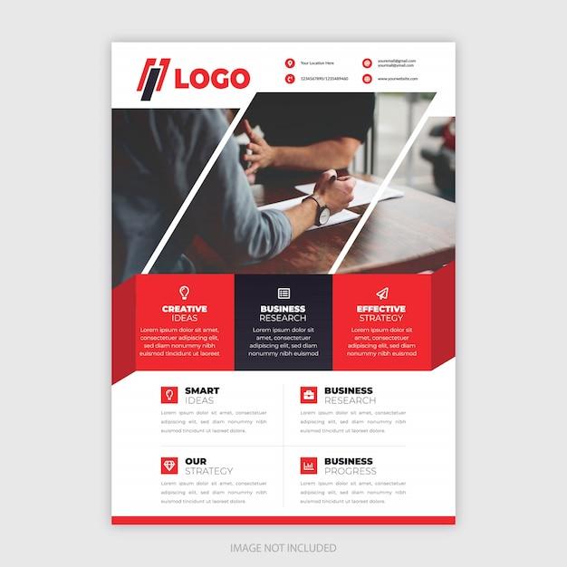 Folheto moderno para empresas e negócios Vetor Premium
