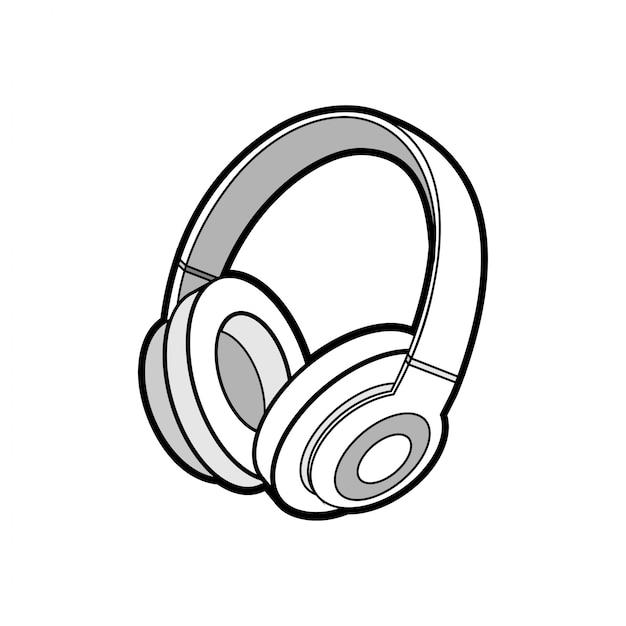 Fones de ouvido sem fio isolado Vetor Premium