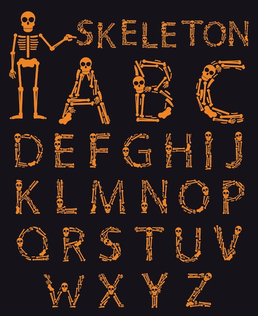 Fonte de halloween artesanal Vetor Premium