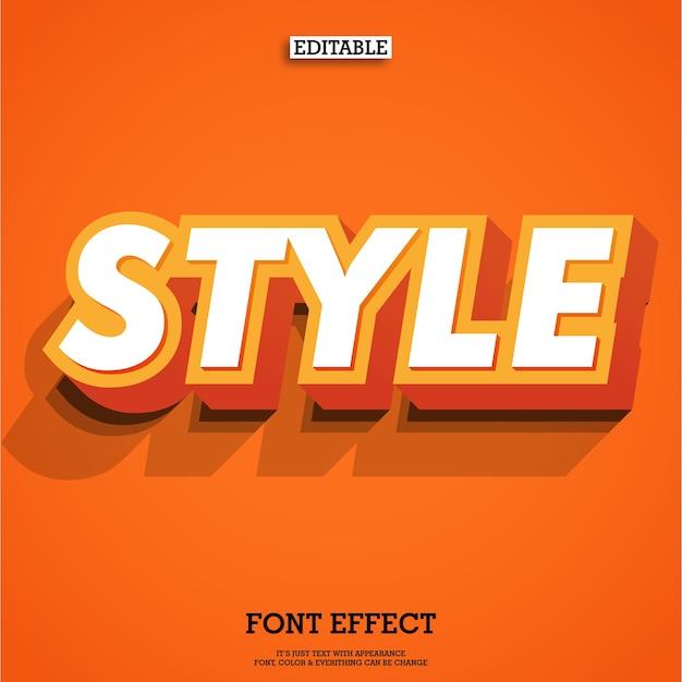 Fonte laranja com duplo bloco de texto 3d Vetor Premium