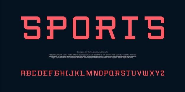 Fonte moderna alfabeto simples Vetor Premium