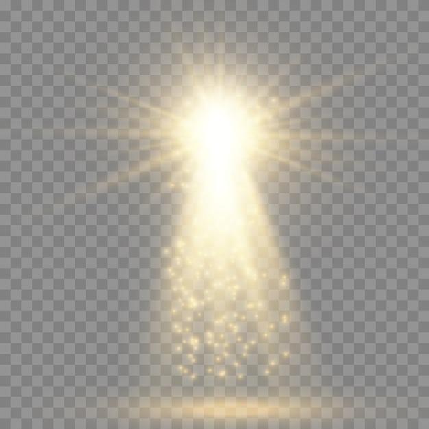 Fontes de luz, iluminação de concertos, holofotes Vetor Premium