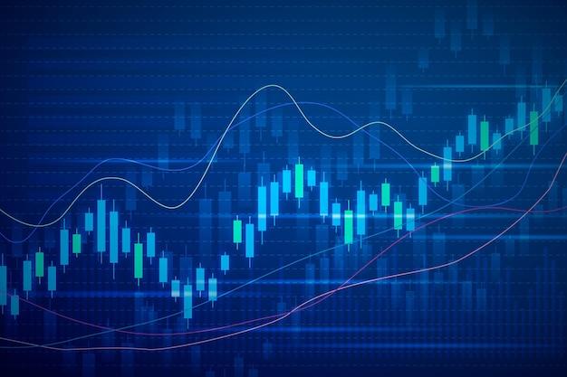 Forex trading background Vetor Premium