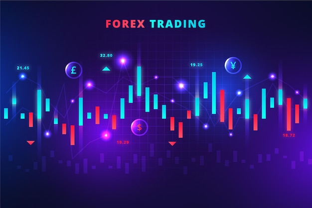 Forex trading background Vetor grátis