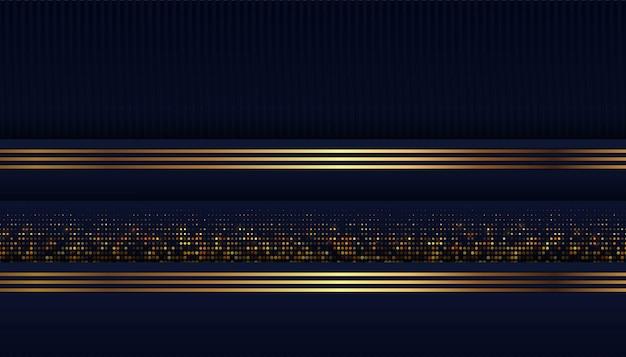 Forma azul escura abstrata com fundo de sobreposição Vetor Premium