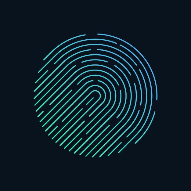 Forma de círculo de impressão digital Vetor Premium