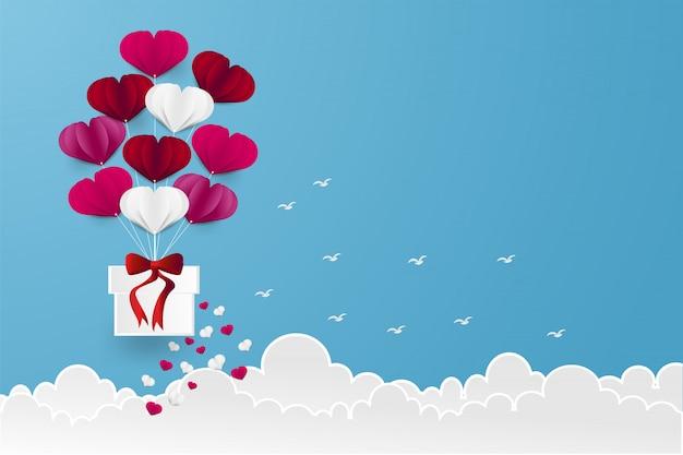 Forma de coração de balão Vetor Premium