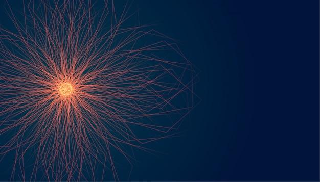 Forma de estrela brilhante com raios de luz estourar o fundo Vetor grátis