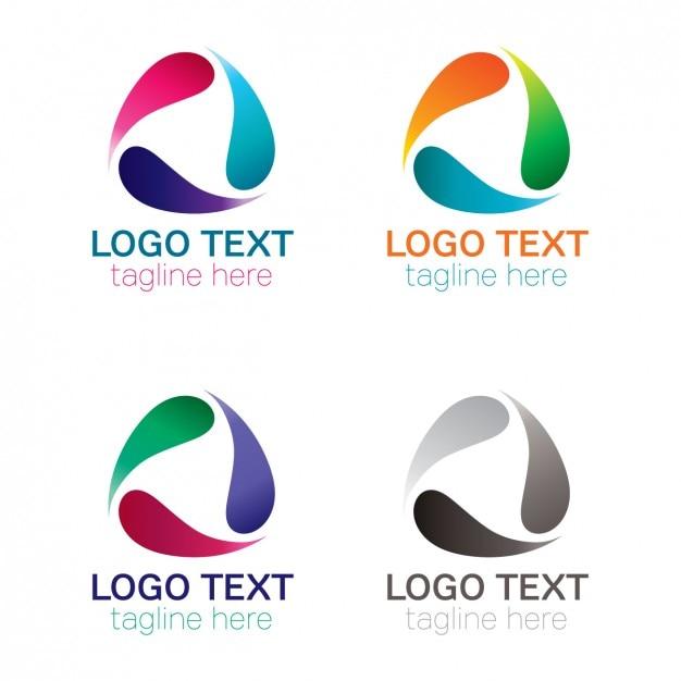 Forma de gotículas logotipo arredondado Vetor grátis