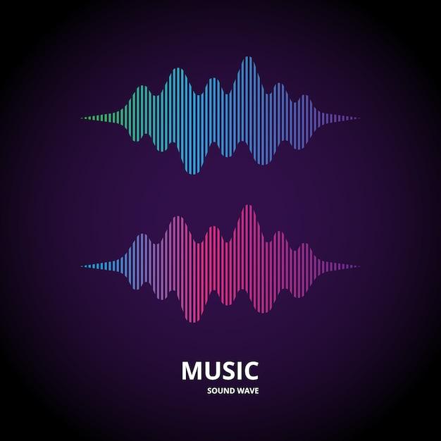 Forma de onda de música Vetor Premium