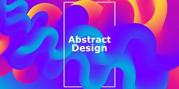 Forma fluida. fluxo abstrato. banner gradiente futurista colorido. Vetor Premium