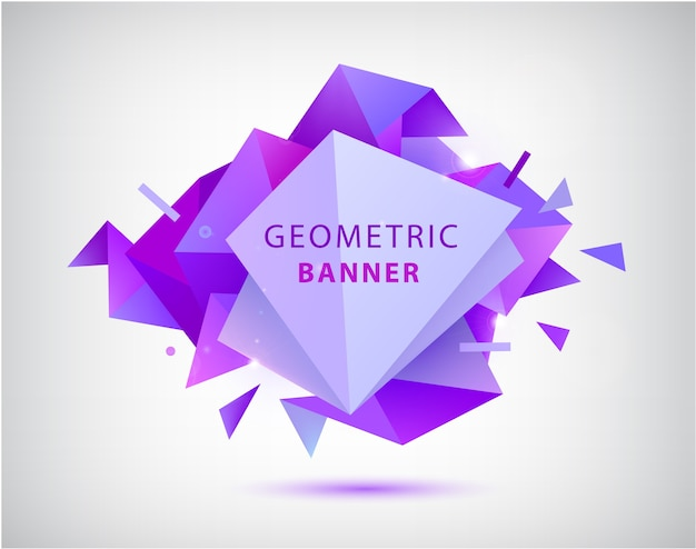 Forma geométrica abstrata da faceta. Vetor Premium