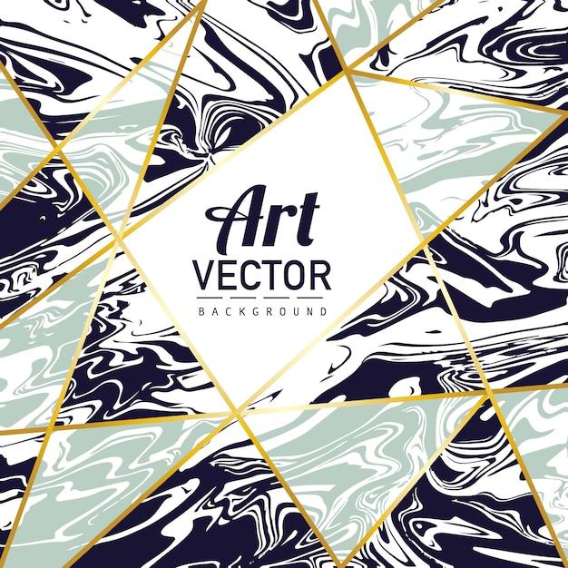 Forma geométrica em fundo de textura de mármore Vetor grátis