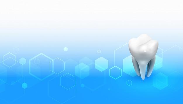 Formação médica de dentista com design de dente 3d Vetor grátis