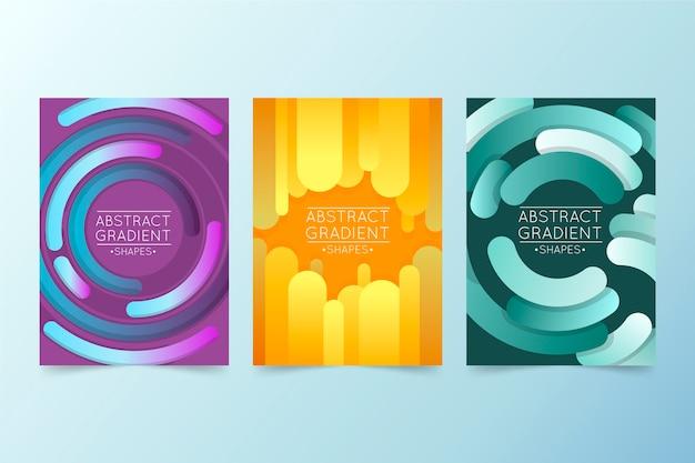 Formas abstratas de gradiente cobrem coleção Vetor grátis