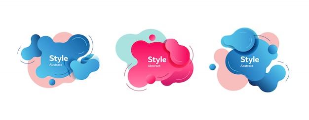 Formas azuis e rosa Vetor grátis