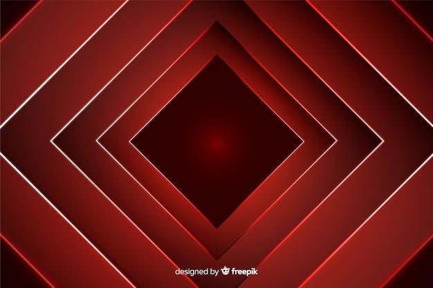 Formas de negrito diamante em fundo vermelho claro Vetor grátis