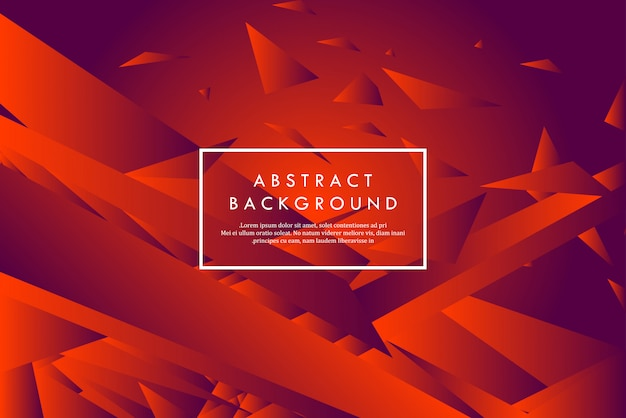 Formas geométricas abstratas vermelhas criativas Vetor Premium