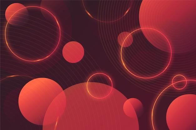 Formas geométricas circulares em fundo escuro Vetor grátis