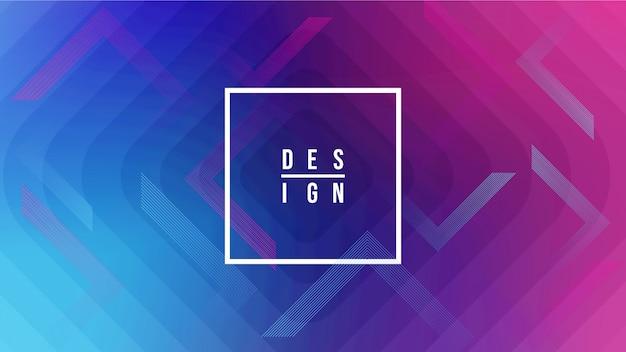 Formas geométricas criativas do fundo. Vetor Premium