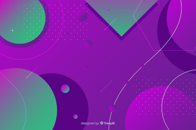 Formas geométricas de design gradiente Vetor grátis
