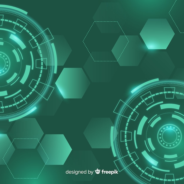Formas geométricas de néon fundo decorativo Vetor grátis