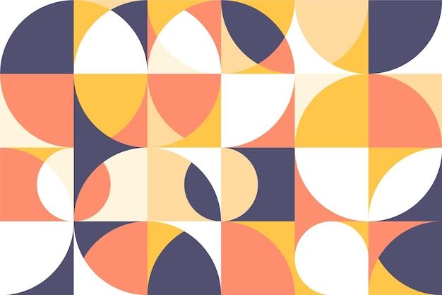 Formas geométricas de papel de parede mural Vetor grátis