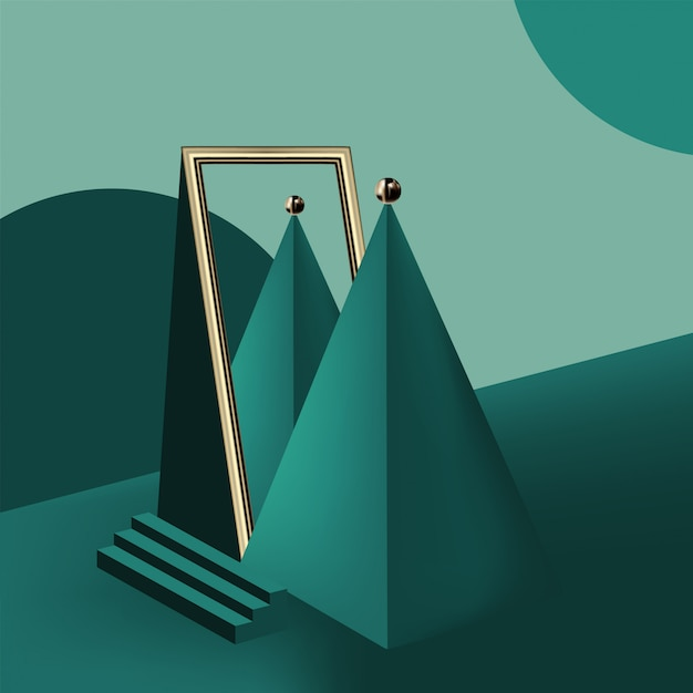 Formas geométricas e as formas Vetor Premium