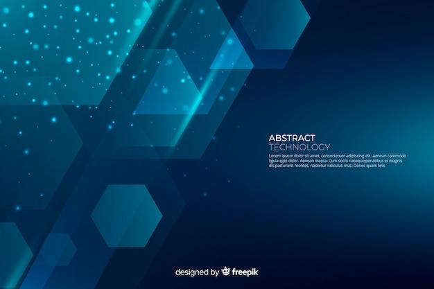 Formas geométricas gradientes abstratas backround Vetor grátis