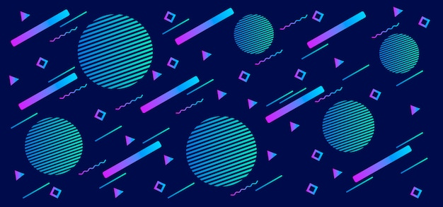Formas geométricas gradientes em azul Vetor Premium