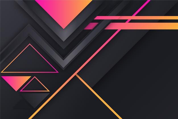 Formas geométricas gradientes em fundo escuro Vetor grátis