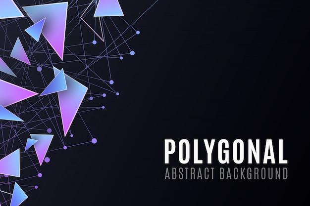 Formas poligonais. fundo moderno para o seu folheto de design. Vetor Premium