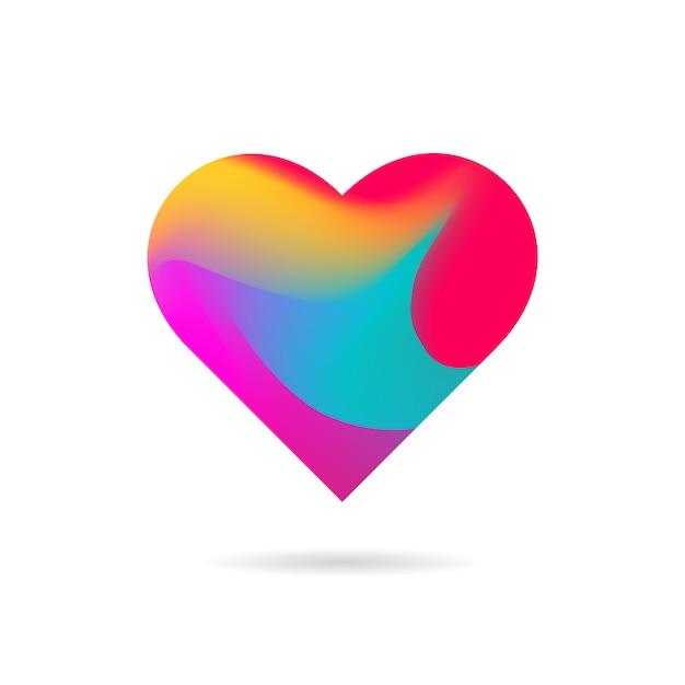 Formato de coração Vetor Premium