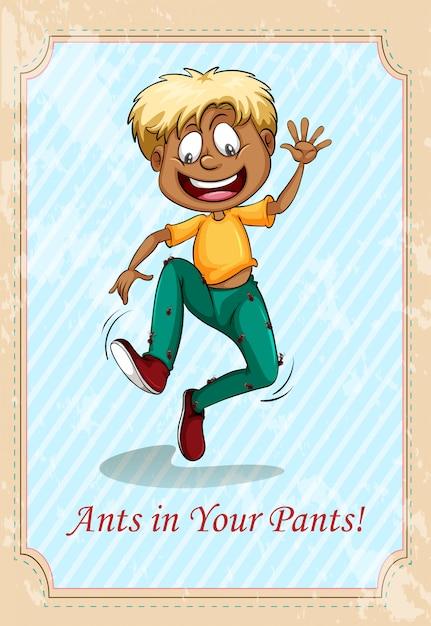 Formigas em suas calças Vetor grátis
