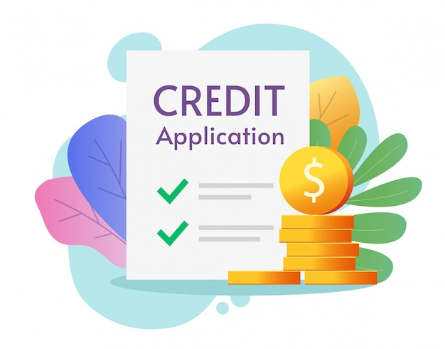 Formulário de pedido de crédito Vetor Premium