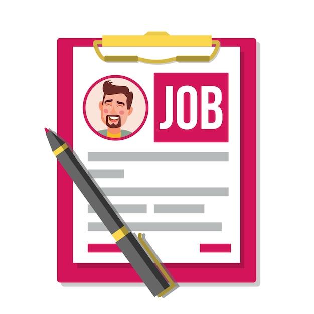 Formulário de pedido de emprego. Vetor Premium