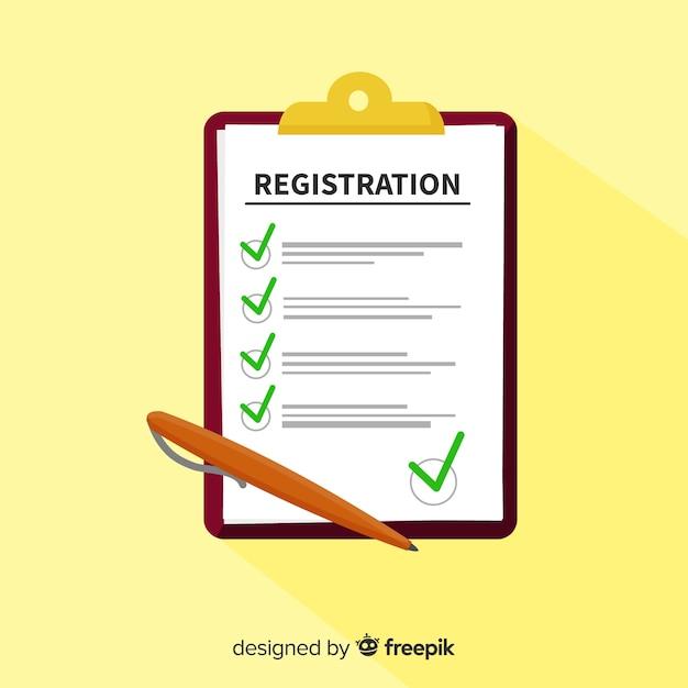 Formulário de registro Vetor grátis