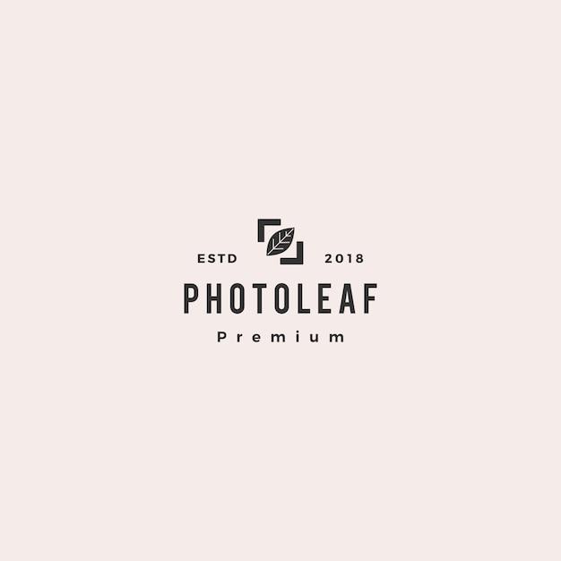 Foto folha logo vector icon ilustração Vetor Premium