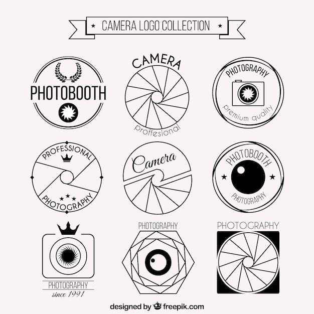 Foto logo camera set baixar vetores premium for Camera blueprint maker gratuito