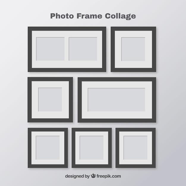 Foto quadro colagem polaroid conceito Vetor grátis
