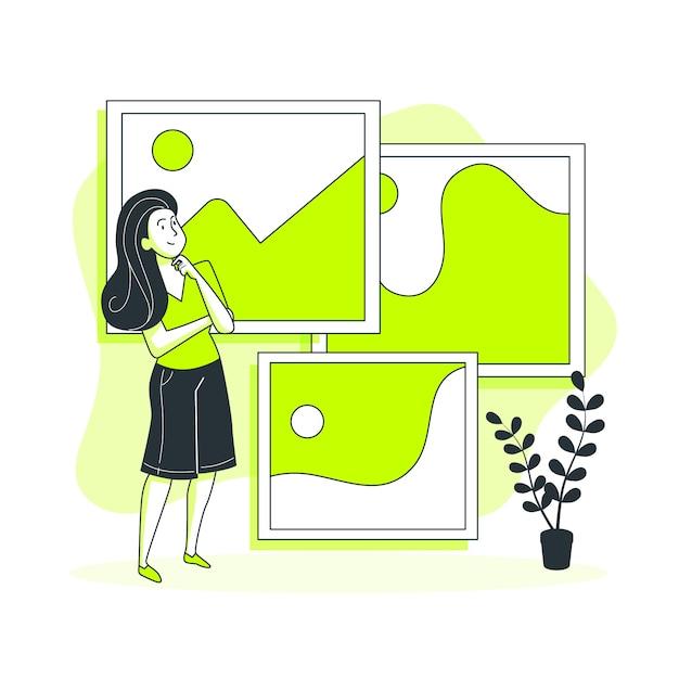 Fotos conceito ilustração Vetor grátis