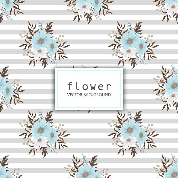Fower page pensioners - flor vermelha Vetor Premium