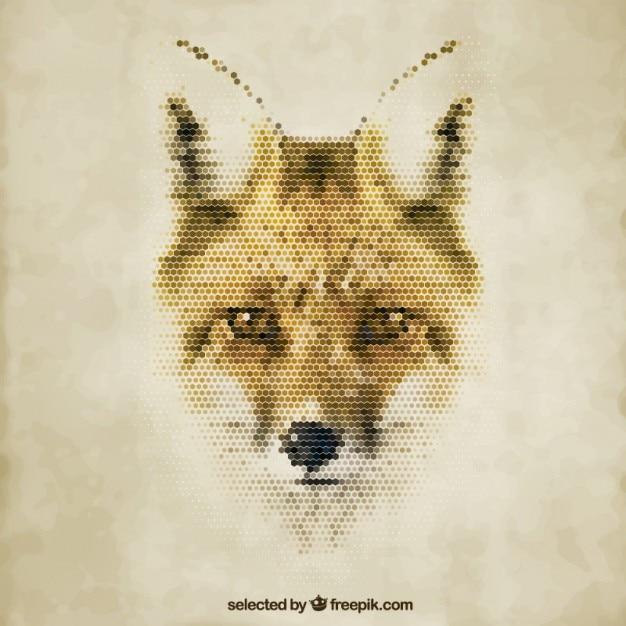 Fox poligonal Vetor grátis