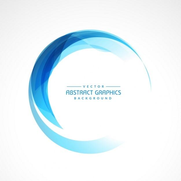 Frame abstrato circular azul Vetor grátis