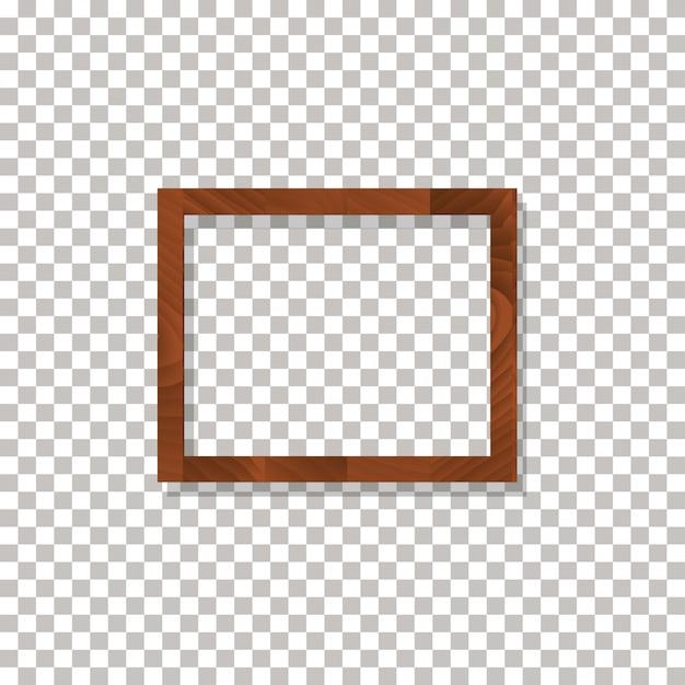 Frame de madeira no vetor transparente do fundo. Vetor Premium