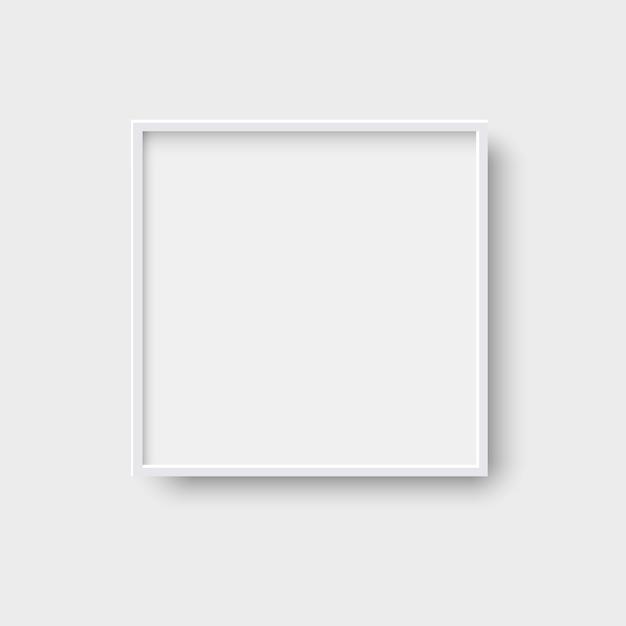 Frame de retrato vazio quadrado realista Vetor Premium